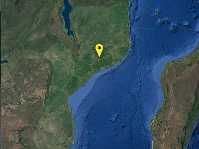 Mozambique vessel location