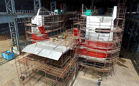 project management of ship construction