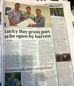 Lucky Bay grain port to be open by harvest