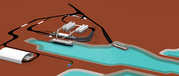 artist rendering lucky bay port