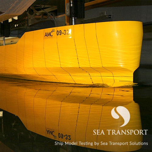 ship design model testing by sea transport solutions